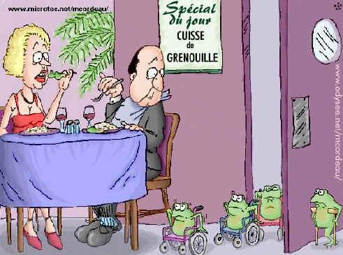 Französische küche comic  Französische Küche Froschschenkel | kochkor.info